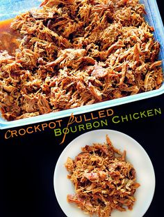 Crockpot Pulled Bourbon Chicken