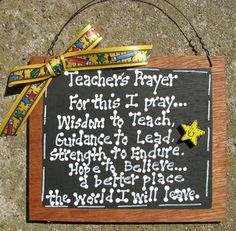 Teacher Gifts Teacher Prayer Slate by NannieandBCrafts on Etsy, $2.95