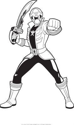 power rangers guard holding a sword | power rangers coloring pages ... - Pink Power Rangers Coloring Pages