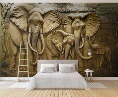 Custom Wallpaper, Photo Wallpaper, Wall Wallpaper, 3d Wallpaper Mural, Wallpaper Wallpapers, 3d Wall Murals, Mural Art, Elephant Background, Map Background