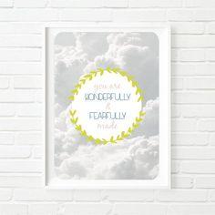 Simple Modern Contemporary Printable Nursery Wall Art Cloud Art Wall Kids, Nursery Wall Art, Girl Nursery, Printing Services, Online Printing, Contemporary Wall Art, Different Colors, Kids Room, Printables
