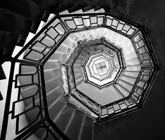 stairs up, in a tower, on the mountain by the lake of Como
