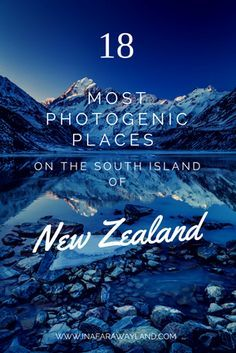 The most photogenic places I've discovered during my trip around the south island of New Zealand new zealand travel inspiration Nz South Island, New Zealand South Island, Travel Guides, Travel Tips, Places To Travel, Travel Destinations, Vacation Travel, New Zealand Holidays, New Zealand Winter