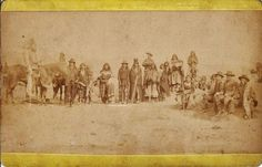 Southern Ute group near Ignacio, Colorado - circa 1890: