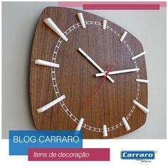 Relógios diferenciados na decoração do lar: http://www.carraro.com.br/blog/item-de-decoracao-relogio-de-parede/