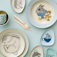 Bloomingville Mini Illustrated Plates and Dishes Pottery Painting, Ceramic Painting, Ceramic Art, Kitchenware, Tableware, Ceramic Pottery, Mini, Dinnerware, Kids Room