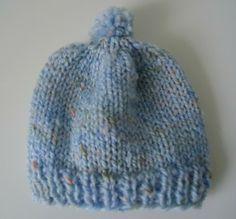 Baby Knitting Patterns Dishcloth Free knitting pattern for newborn baby hats Baby Knitting Patterns, Baby Hat Patterns, Baby Hats Knitting, Loom Knitting, Free Knitting, Knitted Hats, Knitting For Charity, Knitting For Kids, Knitting Projects