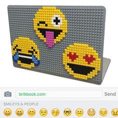 Emoji MacBook Case from BrikBook.com emoji, emotions, emoticon, macbook, macbook case, pixel, pixel art, 8bit Shop more designs at http://www.brikbook.com #emoji #emotions #emoticon #macbook #macbookcase #pixel #pixelart #8bit