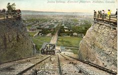 Old Hamilton, Ontario photos - the incline railway. This was still there apparently when we first arrived, but not for long. I was only 3 so I don't remember it at all. Hamilton Ontario Canada, Site History, Mountain View, Back In The Day, New Pictures, Paris Skyline, Beautiful Places, City, Ottawa
