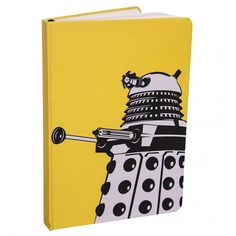 Yellow Doctor Who Dalek A6 Notebook (€11) ❤ liked on Polyvore featuring home, home decor, stationery, doctor who, books, other, accessories and fillers