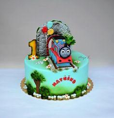 Thomas the Tank Engine cake - Cake by majalaska
