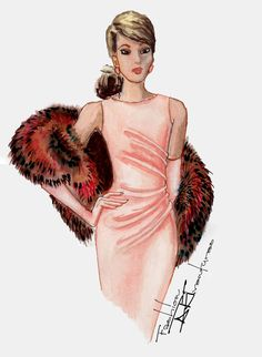 FUR and SILK Tutorial: How to illustrate fabrics in fashion sketch