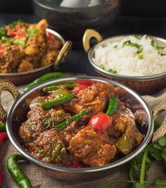 Indian restaurant chicken jalfrezi is a rich, hot curry. The initial fry of green pepper and onion provide the signature smoky flavour.