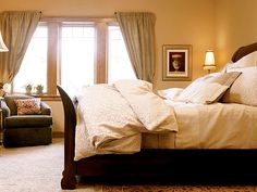 luxurious neutral bed linens. loving this