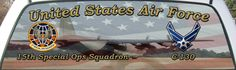 United States Air Force 15th Special Operations Squadron Rear Window Graphic Mural.