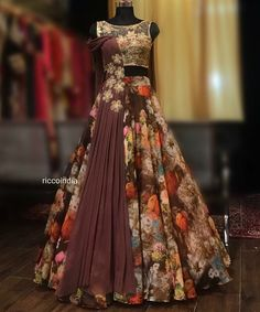 Online Bridal Lehenga Choli With Price Indian Wedding Gowns, Indian Gowns Dresses, Indian Fashion Dresses, Indian Designer Outfits, Wedding Dresses, Lehenga Choli With Price, Bridal Lehenga Choli, Floral Lehenga, Long Gown Dress