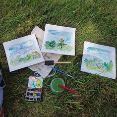 Alberi  #watercolor #painting #trees #pleinair #acquerello #croquis #sketch #lifedrawing #nature #fineart #artwork
