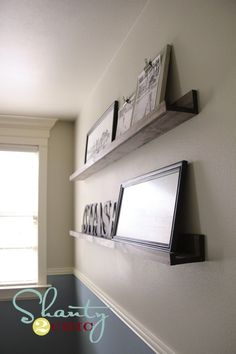 DIY Home Decor styling ideas and examples, plan stamp 4131022634 - Terrific concept to design a truly spectacular yet thrilling decor. Refreshing diy home decor pictures projects Idea shared on this moment 20190101 , Frame Shelf, Diy Wall Shelves, Floating Shelves, Shelving Ideas, Easy Shelves, Cheap Shelves, Wood Shelves, Pottery Barn Shelves, Build Shelves