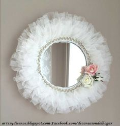 Mirror Crafts, Frame Crafts, Diy Mirror, Mirror Ideas, Mirror Painting, Shabby Chic Crafts, Diy Home Crafts, Diy Pillows, Baby Decor