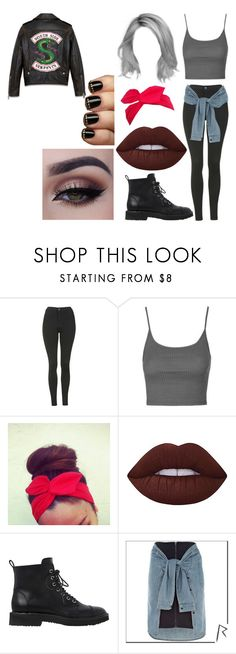 """Untitled #2542"" by hey-mate on Polyvore featuring Topshop, Lime Crime, Giuseppe Zanotti and River Island"