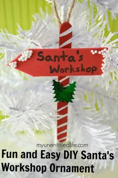 Are you looking for a fun craft to do with the kids over Christmas? Try our Santa's workshop ornament!
