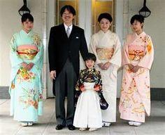 Family Portrait L to R: Princess Mako, Prince Akishino, Prince Hisahito, Princess Kiko, Princess Kako.