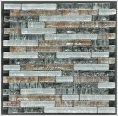 Mineral Tiles - Pearl Glass Mosaic Tile Bold Coffee Linear Blend, $14.95 (http://www.mineraltiles.com/pearl-glass-mosaic-tile-bold-coffee-linear-blend/)