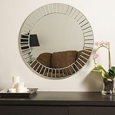 I love mirrors. They add brightness  and can make a room feel bigger.