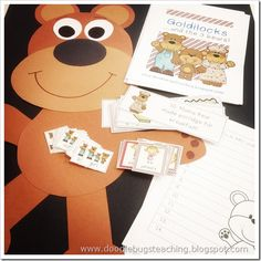 Goldilocks and the Three Bears mini unit -  activities can be adapted for other texts