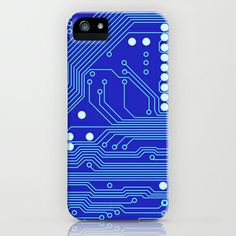 Blue Circuit Board  iPhone & iPod Case by House of Jennifer - $35.00