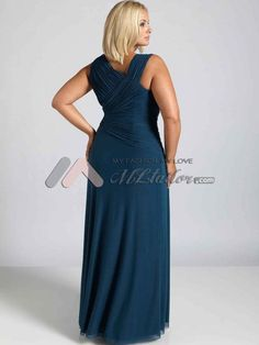 Stunning and sophisticated plus size mother of the bride dress