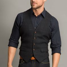 HARRY BROWN Heritage Navy Check Waistcoat - Blazers & Jackets - Tailoring - Suits & Tailoring | Slaters