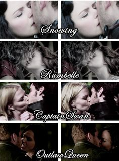 OnceUponATime // First Kiss // SnowIng // Rumbelle // CaptainSwan // OutlawQueen
