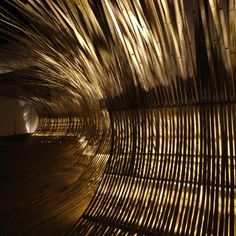 Japanese architect Kengo Kuma has bent bamboo into walkways and seating at this year's Gwangju Design Biennale in South Korea.