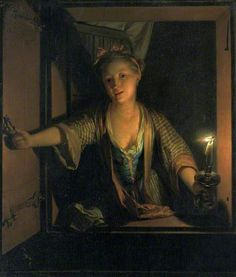 A Girl at the Window, late 17th century by Godfried Schalcken 1643–1706 Nationality: Dutch