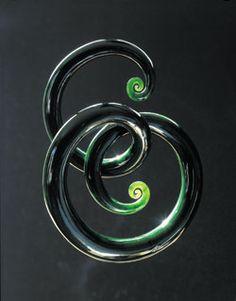 Jade carving -  tendril sculpture - Ian Boustridge