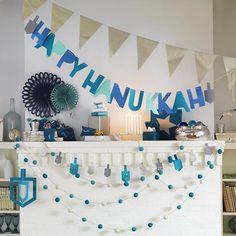 Happy Hanukkah Garland in Hanukkah Décor | The Land of Nod