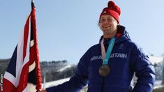 Pyeongchang 2018 was memorable for Billy Morgan - not only did he win bronze in the men's big air event to take Team GB to a record tally of five medals, the snowboard star was chosen to carry the country's flag at the closing ceremony. Gb Flag, Great Britain Flag, Team Gb, Sport Inspiration, Winter Olympics, Snowboard, Canada Goose Jackets, The Man, Carry On