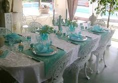 turquoise wedding reception - Buscar con Google