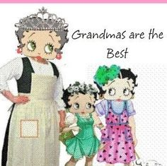 BETTY BOOP grows to b a grandma, wow