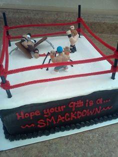 Wwe Wrestling Birthday Cake On My Birthday Ring Cake