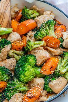 Clean Teriyaki Chicken Skillet Dinner