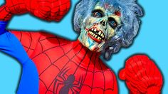 OH NO! Spiderman is a ZOMBIE! Superhero Chase at windmill w/ Joker Mobst...