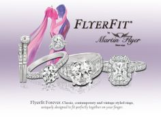 Choose a gorgeous Flyerfit set for your engagement and wedding. We have something to suit every taste; all rings crafted by hand with care. Making your day special is our favorite thing :) www.MartinFlyer.com