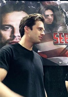 He is talking to hayley atwell before she goes ahead to smash his cheeks lol