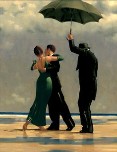 Jack Vettriano, OBE is a Scottish painter. His 1992 painting, The Singing Butler, became a best-selling image in Britain. For biographical notes -in english and italian- and other works by Vettriano see: Jack Vettriano, 1951 Jack Vettriano, Rain Dance, Dancing In The Rain, The Singing Butler, Posters Vintage, No Rain, Poster Prints, Art Prints, Love Art