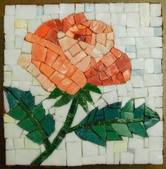 Rosa cm e cm smalti e ori veneziani mosaico tecnica diretta Mosaic Artwork, Mirror Mosaic, Mosaic Diy, Mosaic Crafts, Mosaic Projects, Mosaic Glass, Mosaic Tiles, Mosaic Designs, Mosaic Patterns