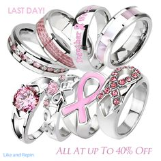 love this but in blue for colon cancer Breast Cancer Ring of Hope