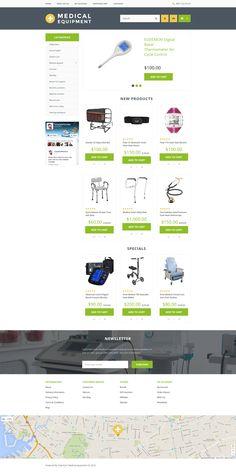 Medical Equipment OpenCart Theme