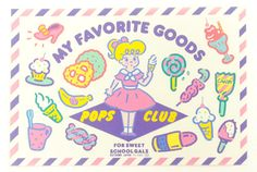 POPS CLUB ポップスクラブ ステッカー A - おもちゃ屋 KNot a TOY ノットアトイ Online Shop in 高円寺